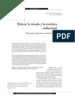 Educar La Mirada y La Escritura Audiovisual