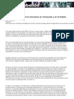REFORMA EDUCATIVA.VENEZUELA-ESPAÑA