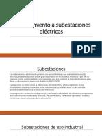 Mantenimiento a Subestaciones Eléctricas