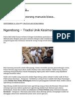 Ngerebong – Tradisi Unik Kesiman – …Blog Nak Belog…
