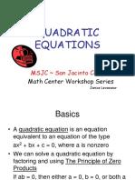 18 QUADRATIC EQUATIONS.ppt