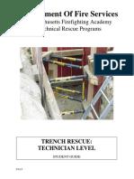 Trench Rescue Technician Level
