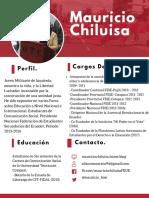 Hoja de vida de Mauricio Chiluisa