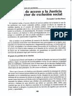 Falta de Acceso a la Justicia como Factos de Exclusion Social