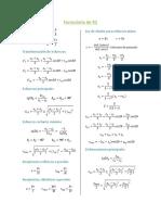 Formulas para calculo de esfuerzos y deformaciones