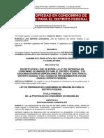 Ley de Propiedad en Condominio de Inmuebles Para El Distrito Federal