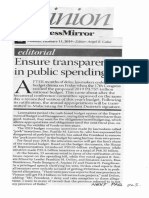 Business Mirror, Ensure transparency in public spending.pdf