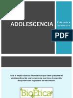 Adolescencia y Adicciones