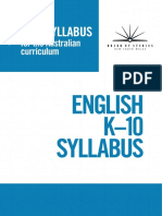 English k-10 syllabus