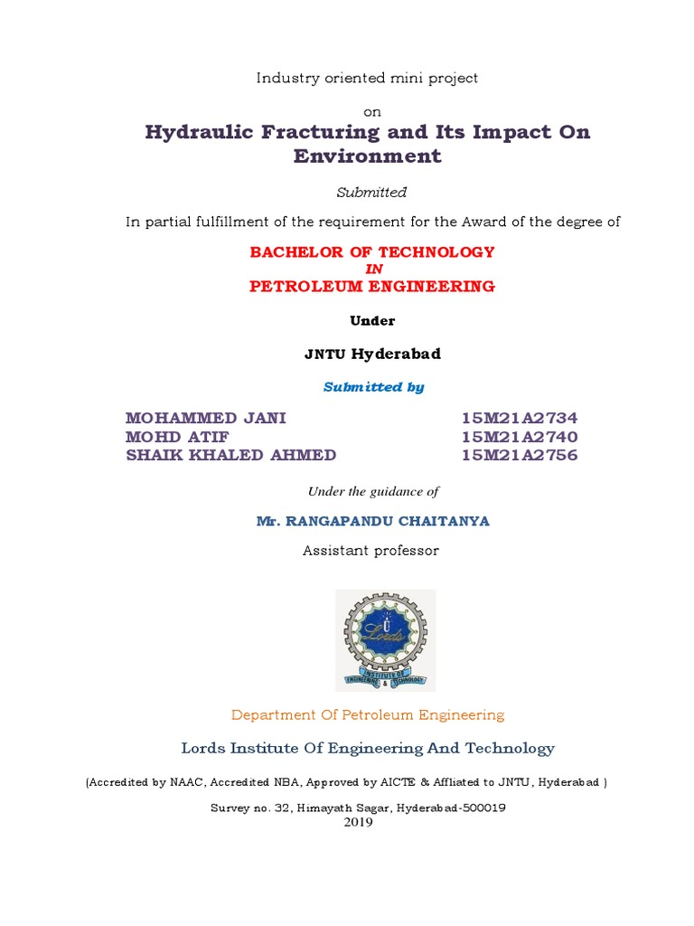 Mcq Hydraulic Fracturing Natural Gas