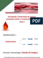 Aula 1 - Introdução à Hematologia