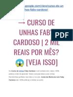 → Curso Faby Cardoso Hotmart É Bom? [NÃO Compre Sem Antes LER Isto]