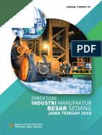 Direktori Industri Manufaktur Besar Sedang Jawa Tengah 2016