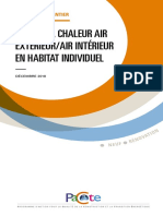 Comment installer une PAC air/air (< 50 kW) destinée au chauffage-rafraîchissement d'un logement ?