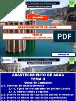TEMA 2 AGUA POTABLE Resumen Para Examen Obras de Captacion EJ2018