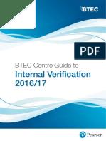 BTEC Centre Guide to Internal Verification