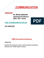 GSM Terrestrial Interfaces(Lecture-3)