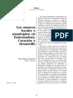 LosMuseosLocalesYMunicipiosEnExtremaduraCreacion