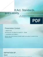 The OSH Act, Standards, And Liability Std Ver
