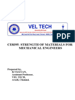 CE8395 Strength of Materials for Mechanical Engineers Questions and Answers