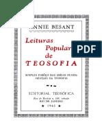 Annie Besant - Leituras Populares de Teosofia