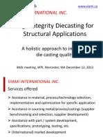 High Integrity Die Casting - iMdc Dec 2013 Silafont®, Magsimal® und Castasil®
