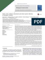 Essl F. Et Al. Native, Endemic, Theatened Ans Extincion Species Diversity in Europ_2013_Biological-Con
