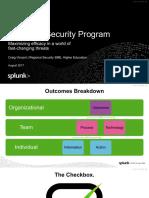 splunk security program