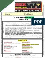 4° SIMULADO - ESP CB FN - MAIO 2018 - IMPRESSÃO