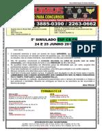 5° SIMULADO - ESP CB FN - JUNHO 2018 - IMPRESSÃO