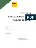 Petunjuk Penggunaan System Online Trading