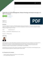 SAP MM - Version Management for Po