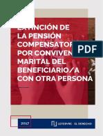 Extincion de La Pension Compensatoria Por Convivencia Marital Del Beneficiario a Con Otra Persona