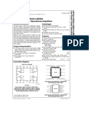 LM324 pdf | Amplifier | Operational Amplifier