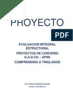 Evaluacion Integral Estructural TINGLADOS Sucre Bolivia