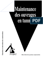 Maintenance des ouvrages en tunnel
