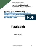 Applying International Financial Reporting Standards 3rd Edition test bank