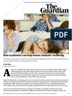 How academics can help ensure students' wellbeing