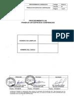 POS-10 Procedimiento de Trabajo en Espacios Confinados Version 01