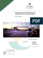Estudio Económico de La Tarificación de Las Infraestructuras de Carreteras de España