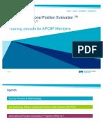 Mercer International Position Evaluation TM System (IPE) v3.1. Training Session for APCBF Members MERCER.pdf