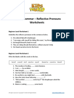 Reflexive Pronouns Worksheets