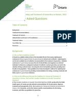 Guidelines Gonorrhea Ontario FAQ 2013