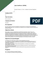 Sistemas de Informação Analíticos I