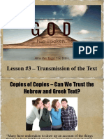 Transmission of the Text Nt