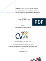 Informe Escrito Aplicacion de Estandares