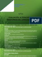 UT2 Evaluación, Alteraciones y Trastornos Del Lenguaje. SAAC.