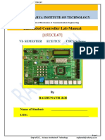 15ECL67  Embedded Controller  ARM [LPC1768]   Lab Manual by Raghunath Updated