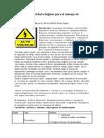 Normas de Seguridad e Higiene Para El Manejo de Electric Id Ad