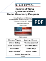 Connecticut Wing Congressional Gold Medal Ceremony Program (March 2015)